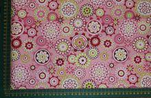 Цветочный орнамент на розовом (польский хлопок)