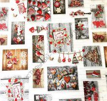 Новогодняя декоративная ткань OSLO